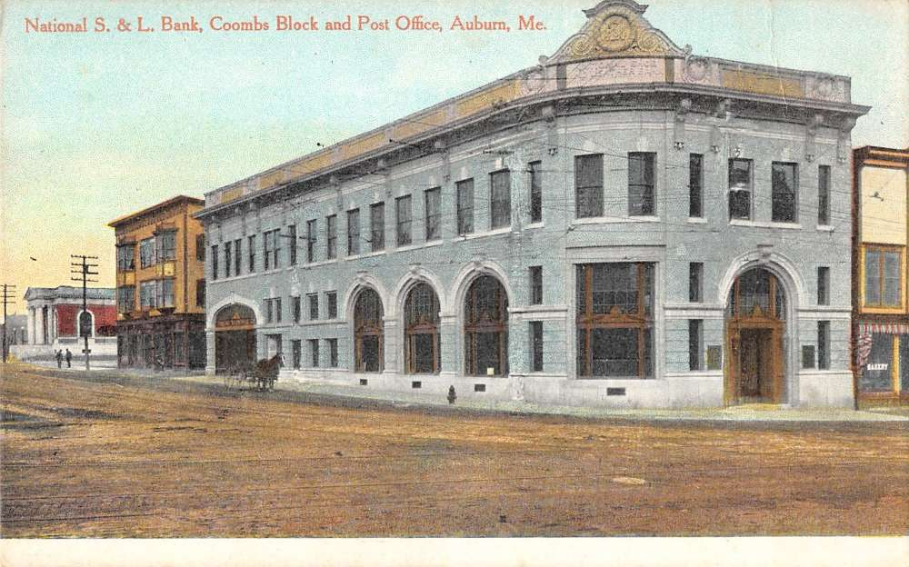 Bank and post office in auburn maine antique postcard l589 ebay - Internet banking post office ...