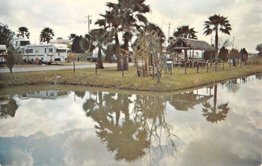 Brownsville Texas Four Seasons RV Resort Trailer Park Vintage Postcard K26071