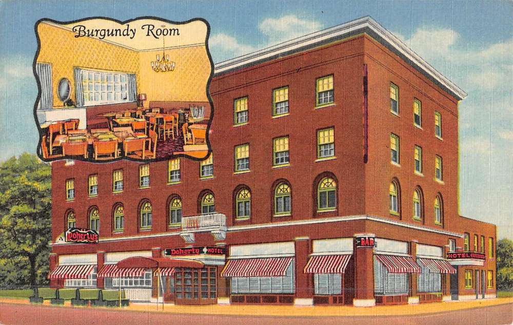Clare Michigan Doherty Hotel Street View Antique Postcard K47757