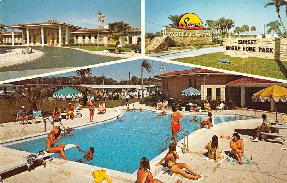 Details about Pinellas Park Florida Sunset Mobile Home Park Trailer on