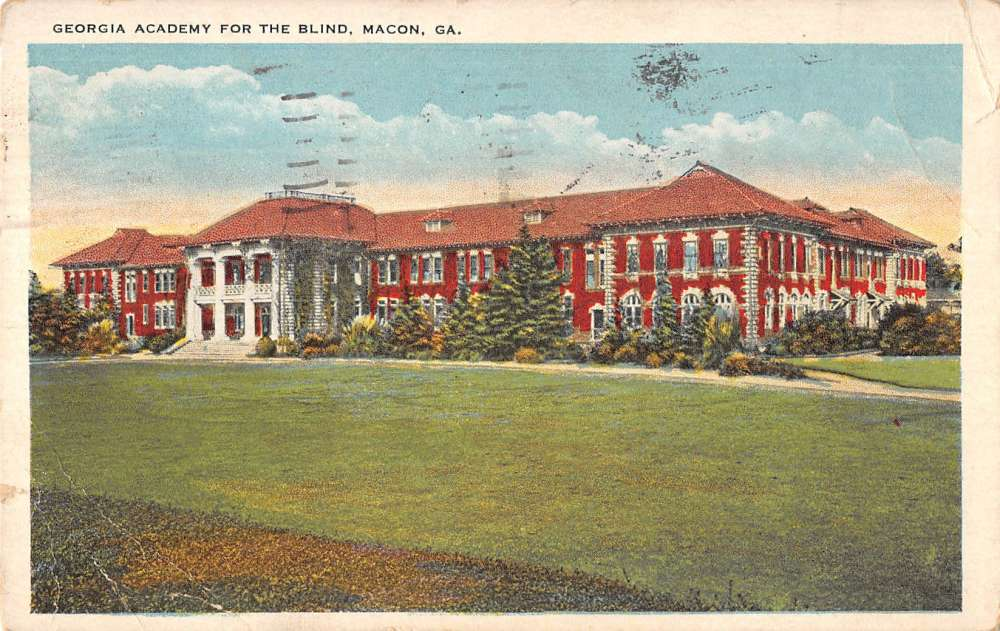 Macon Georgia Academy For The Blind Antique Postcard