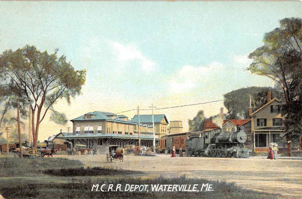 Waterville Maine Mc Railroad Depot Antique Postcard K47545 Ebay