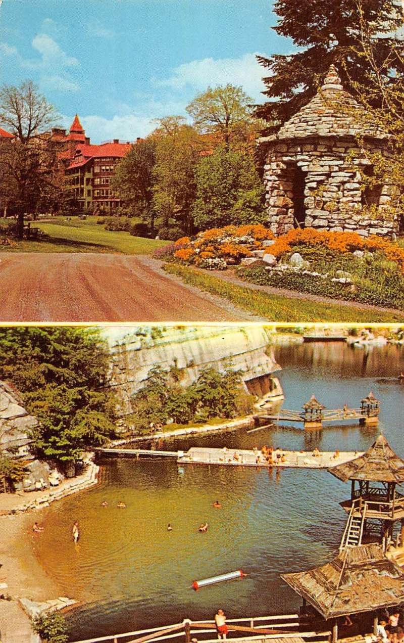 Monhonk Mountain House: New Paltz New York Mohonk Lake Mountain House Vintage