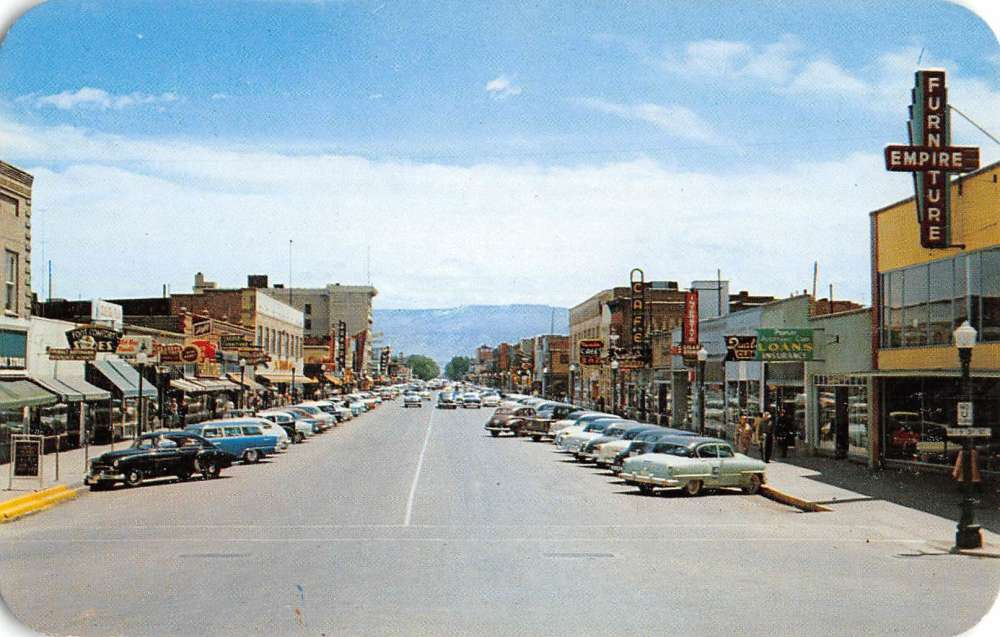 GRAND JUNCTION COLORADO ELEVATED VIEW OF MAIN STREET
