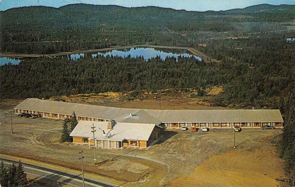 Wawa Ontario Canada Motor Hotel Birds Eye View Vintage Postcard J68660