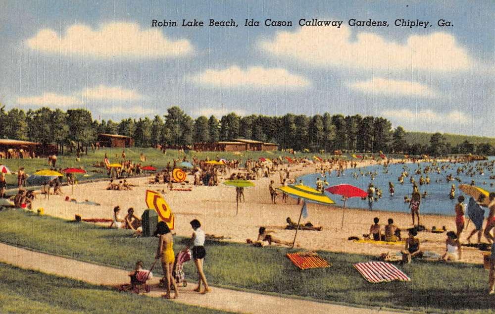Chipley Georgia Ida Cason Callaway Gardens Robin Lake Beach Postcard K77329