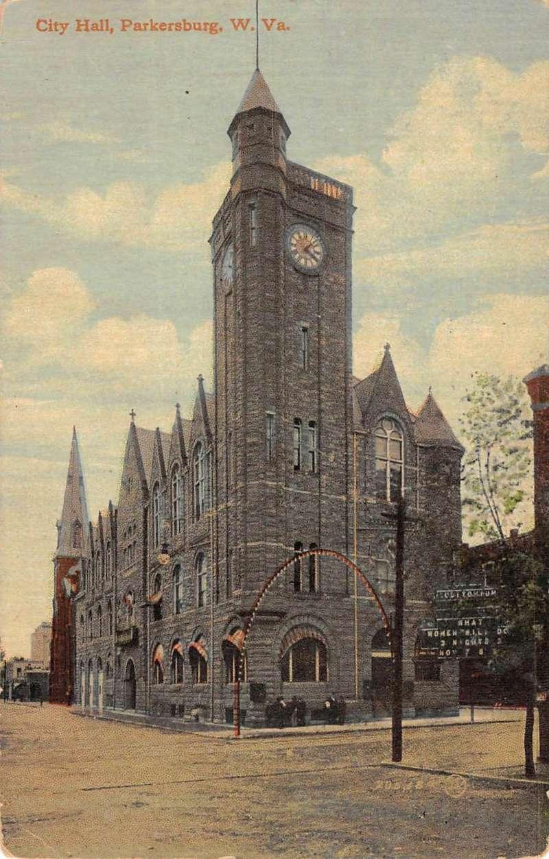 Williamsport Pennsylvania City Hall Street View Antique