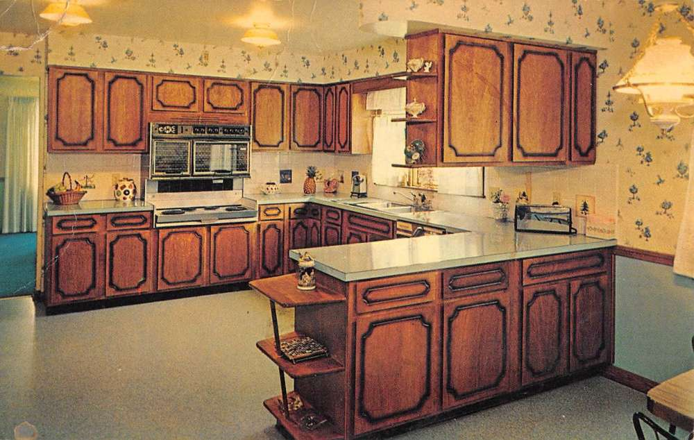 Details About Etling Kitchen Cabinets Interior Advertisement Vintage Postcard Ka688450