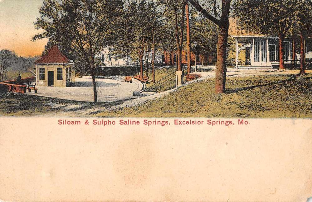 Sulpho-Saline Spring and Siloam Springs 1930s by